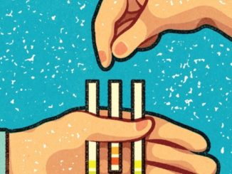 hands and test tubes